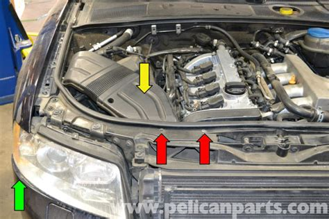 service manual 2007 audi s6 remove the passenger side sun visor mirror new oem ulo audi a6 audi a4 b6 headlight bulb and assembly replacement 2002 2008 pelican parts diy maintenance
