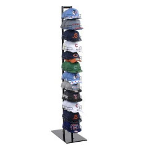 new 12 tier baseball hat rack display tower black 73 h x