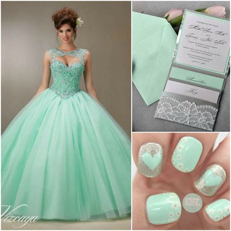 quinceanera colors mint and gray color combo colors quinceanera