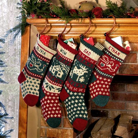annie s personalized christmas stockings knitted by