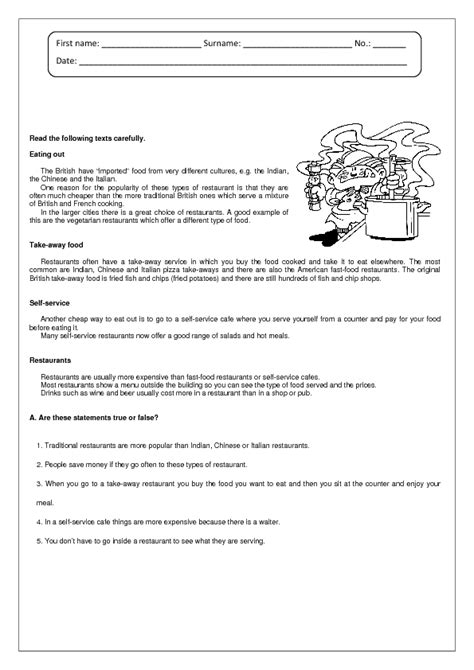 reading comprehension test intermediate reading comprehension exercise intermediate level