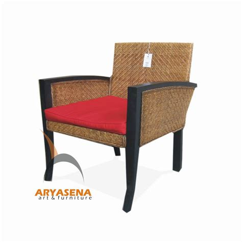 rattan furniture dining chair with arms and cushion