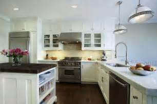 White Kitchen Cabinets With Glass Doors by The Example Of Kitchen With White Cabinets Home