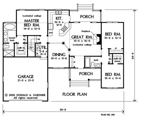 donald gardner plans home plan the blakely by donald a gardner architects