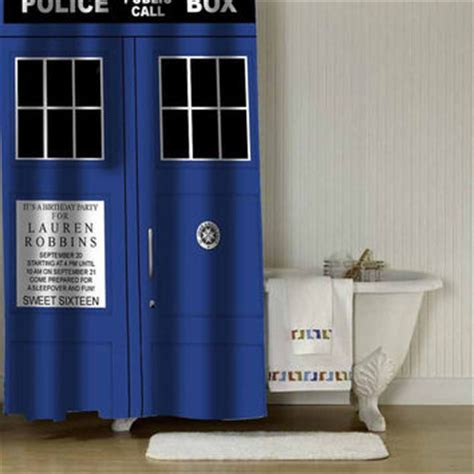 tardis shower curtain tardis dr who shower curtain adorabel from c00ldin on etsy