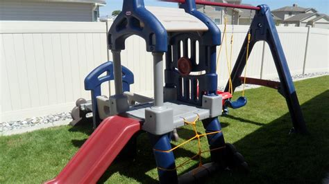 little tikes clubhouse swing set reviews jump climb play and learn with little tikes giant slide