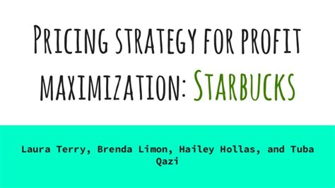 Pricing For Profit pricing strategies for profit maximization in businesses