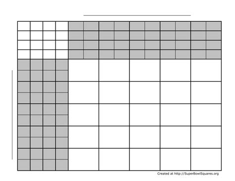 football square board template football squares bowl squares play football