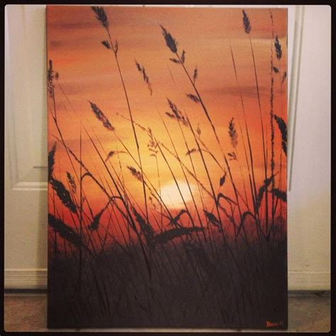 acrylic paint canvas sunset landscape original acrylic painting on canvas