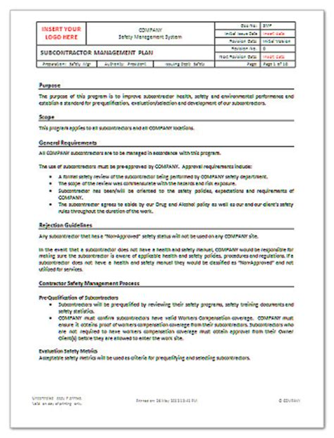 small business subcontracting plan template subcontracting plan template plan template