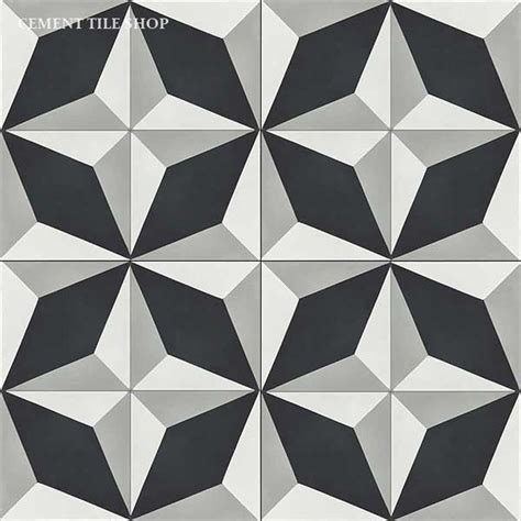 diamond pattern black and white tile floor cement tile shop diamond patterns cement tile shop blog