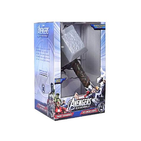 3d Wall Thor Hammer Nightlight By Marvel thor hammer 3d light fx deco led wall nightlight