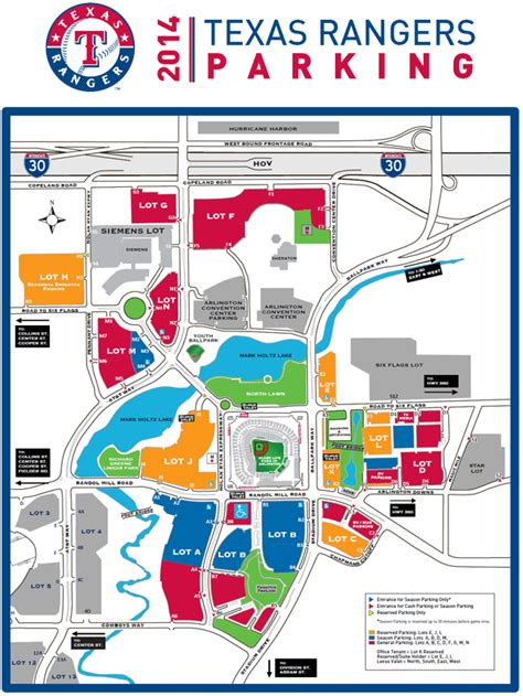 texas rangers ballpark parking map gallery for gt handicap parking signs printable