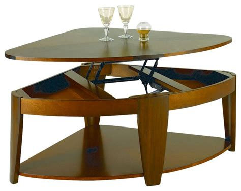 Hammary Oasis Wedge Lift Top Cocktail Table Traditional Wedge Coffee Table