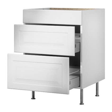 ikea faktum faktum base cabinet with 3 drawers liding 246 white 80