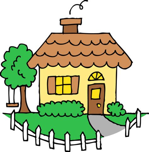 clipart home cottage clipart home time pencil and in color cottage