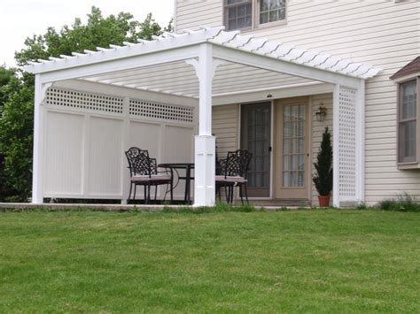 Pergola With Privacy Screen 14 X 14 Pvc Vinyl Pergola Pergola Privacy Screens
