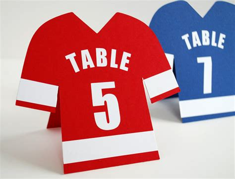 sports card template for jersey numbers football themed wedding table plans