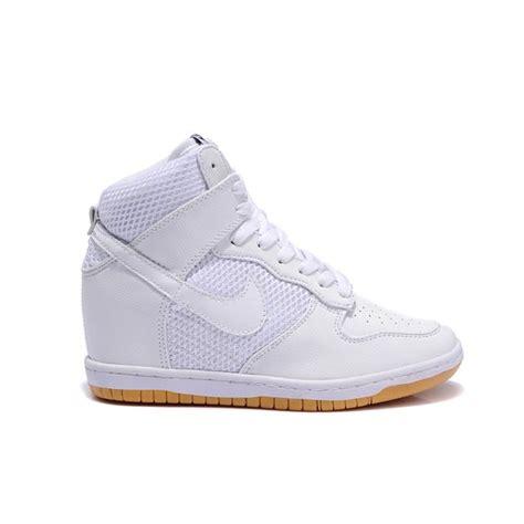 nike wedge sneakers white nike sky high wedge white