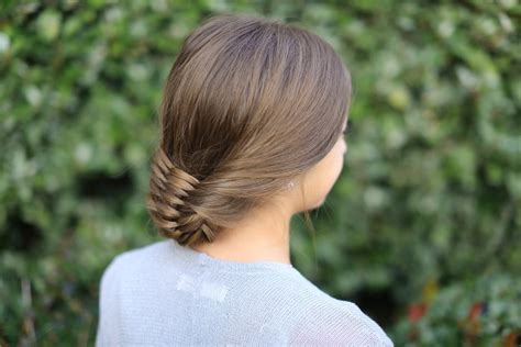 by hairstyle the woven updo cute girls hairstyles