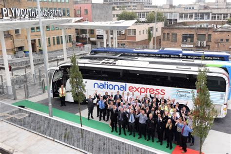 all aboard at the new plymouth coach station the