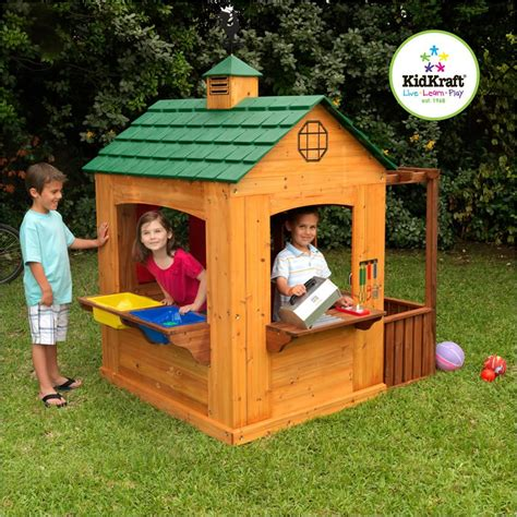 kids backyard store kidkraft 178 outdoor wood activity playhouse for kids