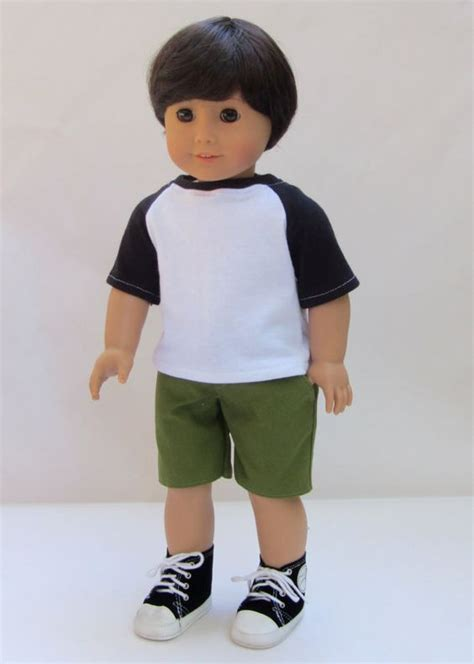 doll baseball american boy doll clothes shorts and baseball