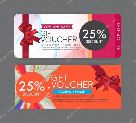 voucher designs  examples psd ai examples