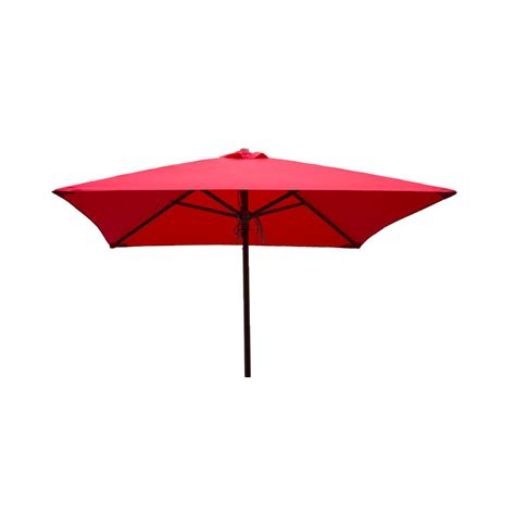 Square Patio Umbrella Destinationgear Classic Wood 6 5 Ft Square Patio Umbrella In Polyester 1236 The Home Depot