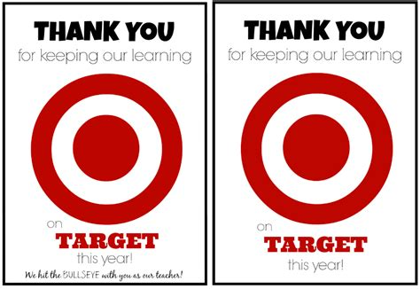 Target Gift Card Printable - teacher appreciation gift idea target gift card teacher appreciation printable