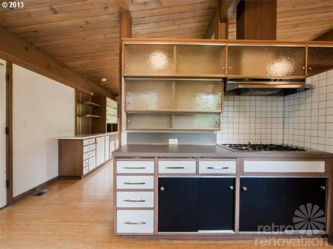 retro modern kitchen midcentury modern time capsule house in portland oregon