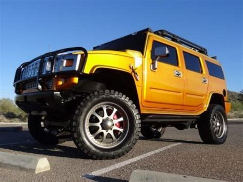 purchase used no reserve 03 hummer h2 custom built