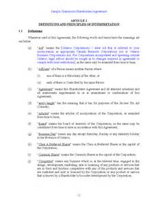 Simple Shareholders Agreement Template shareholders agreement related keywords amp suggestions