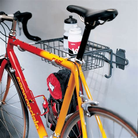 bike rack garage wall grid or wall mount bike rack and basket in wall bike racks