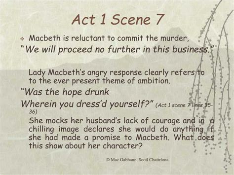 macbeth themes of ambition ppt lady macbeth is the real driving force behind the