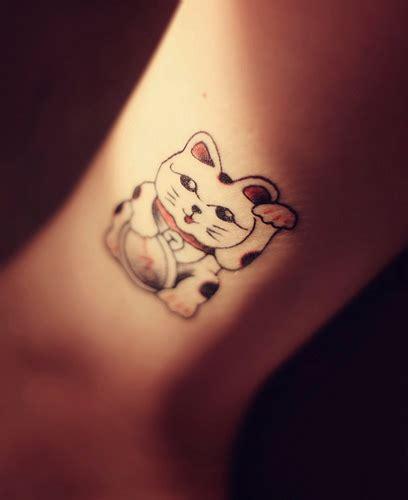 tattoo cat neko 10 52 maneki neko flickr photo sharing