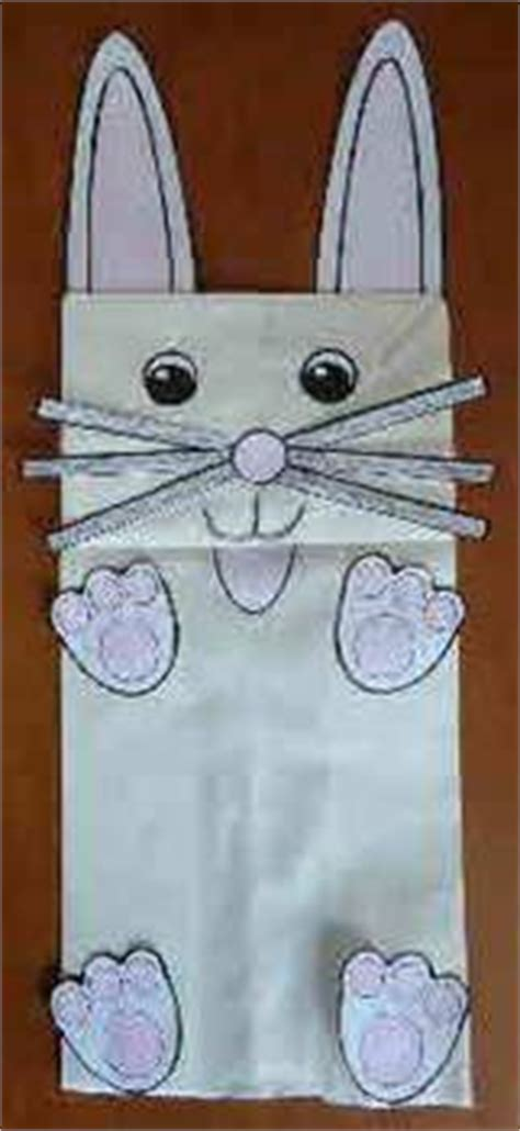 paper bag bunny template here comes cottontail on easter eggs