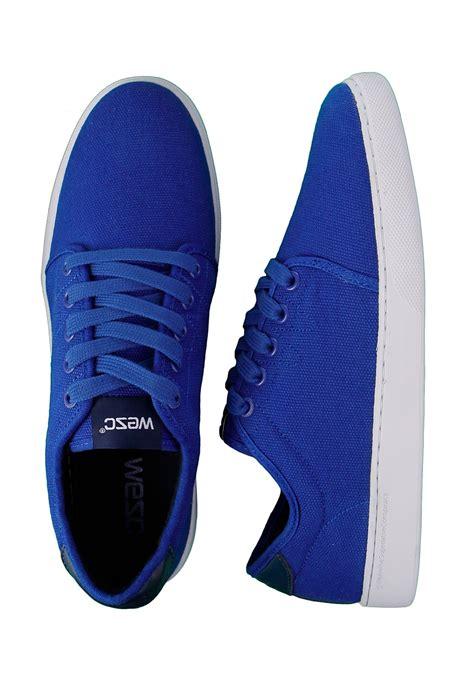 royal blue sneakers wesc edmond royal blue shoes impericon worldwide