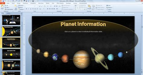 Animated Solar System Powerpoint Template For Science Astronomy Presentations Solar System Powerpoint Template