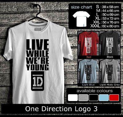 one direction logo 3 kaos distro seven