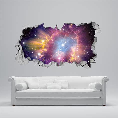 Wall Sticker Murals cosmic broken wall 3d moonwallstickers com