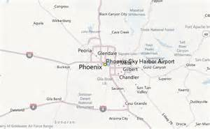 arizona airports map sky harbor airport weather station record