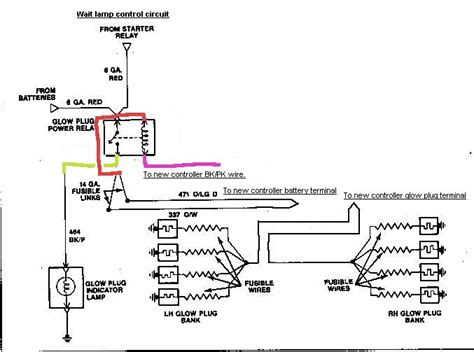 2001 ford 7 3 glow wiring diagram wiring diagrams