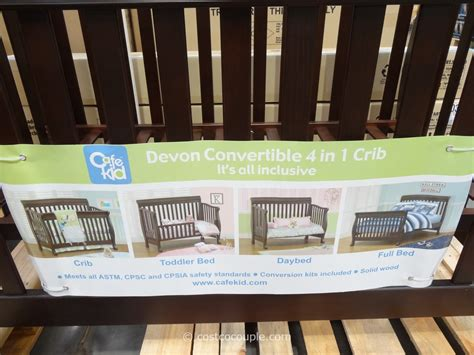 Costco Cribs by Cafe Kid Convertible 4 In 1 Crib