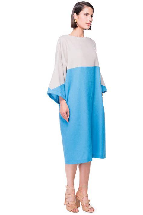 Ab Studio Twotone Dress two tone oversized wool dress chemistry studio