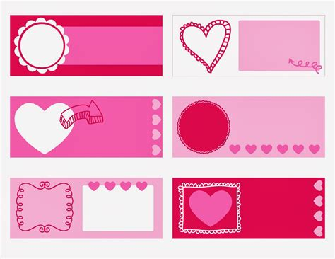 valentines day name tags printable everyday art printable valentine s coupons for kids