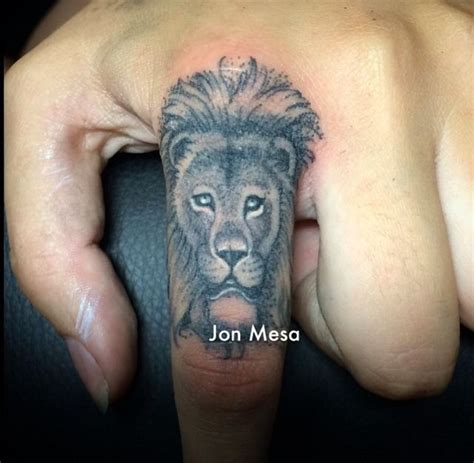 lion tattoo on finger best 25 finger tattoos ideas on matching