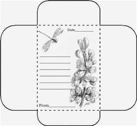 packet template card seed envelope packets printable seed