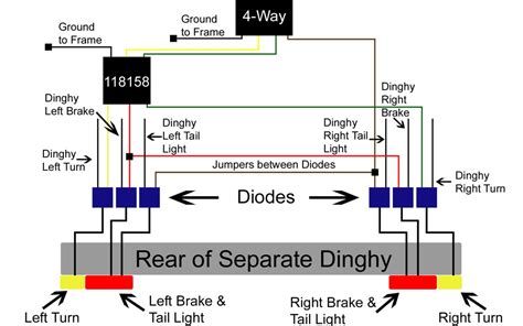 diode installation for a dinghy with separate