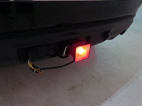 broken tail light cover illegal brake and tail light trailer hitch receiver cover for 2